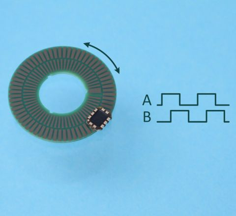 Rotary Inductive Encoder Chip ID4501C