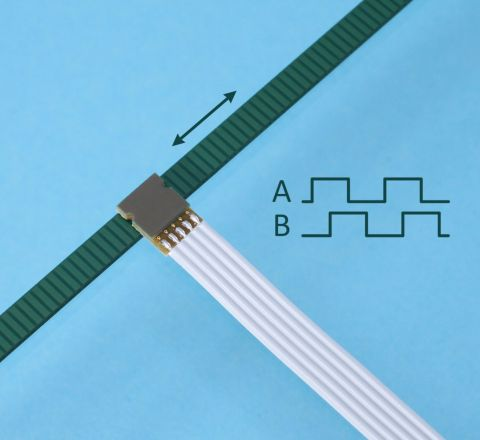 Linear Inductive Encoder ID1102L with scale