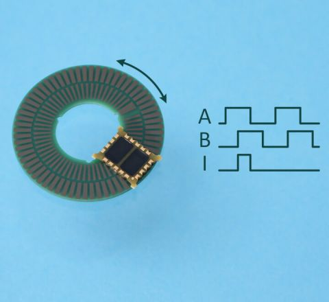 Rotary Inductive Encoder Chip with Index IT5602C with Codewheel