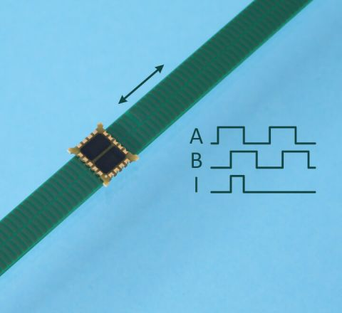 Inductive Linear Encoder Chip with Index IT5602L with scale