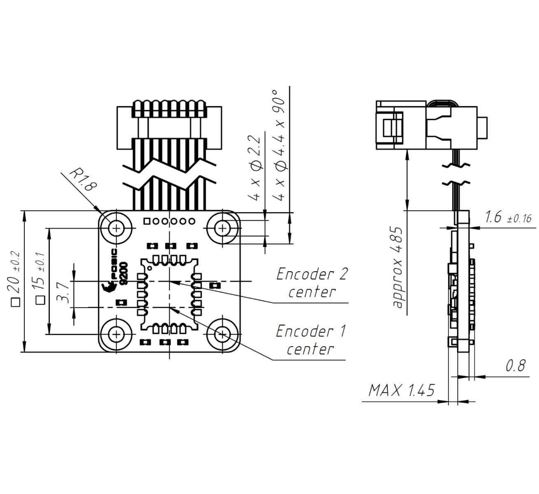 Technische Zeichnung Absolut Linear Encoder AP9200L