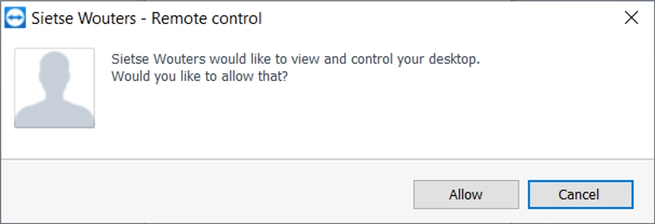 TeamViewer - Allow remote control