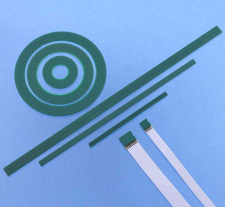 Scheiben und Massstäbe für POSIC-Encoder